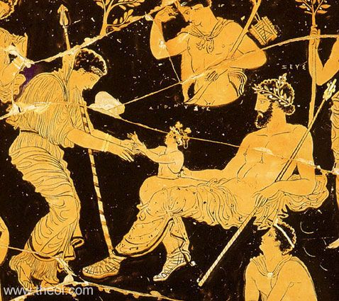 01 naissance Dionysos 405-385 avant JC,  musée de Tarente