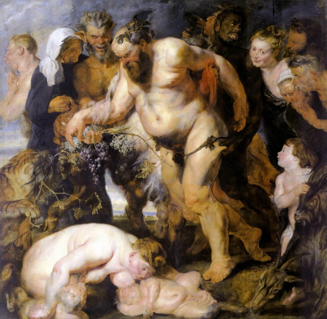 02 Silène ivre, Peter Paul Rubens, 1616 Munich Alta Pinacothek