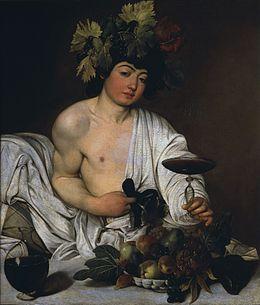 06 Bacchus adolescent,  auto portrait Le Caravage, 1593-1602,  Galerie des Offices, Florence
