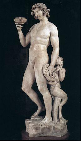08 Bacchus, Michel Ange, musée de bargello Florence