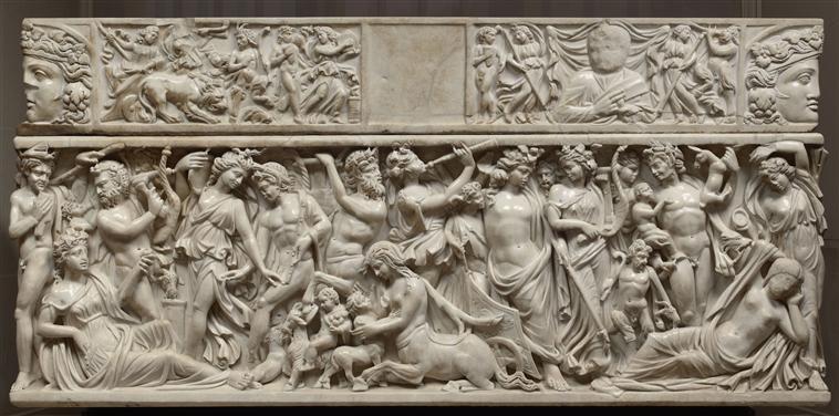 11 Dionysos rencontre Ariane endormie,  sarcophage vers 230 235 ap J C,  musée du Louvre