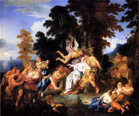 13 Bacchus accueillant Ariane dans l'île de Naxos, J F  de Troy, XVII s
