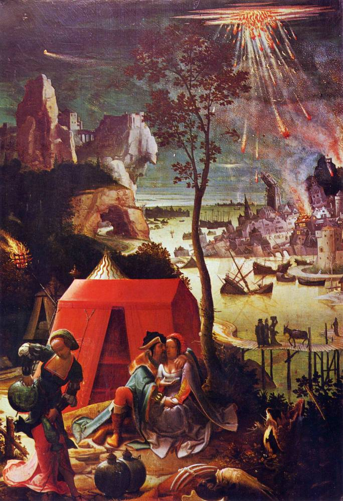 18 Loth et ses filles, Lucas Leyden, 1525, musée du Louvre