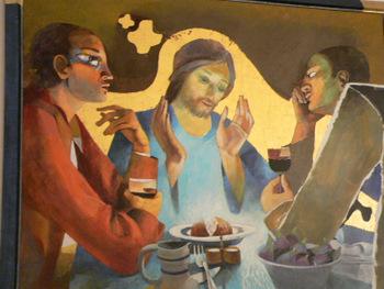 22 Les disciples à Emmaüs, Arcabas, XX s