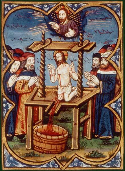 24 pressoir mystique,  bible de Philippe le Hardi XVe