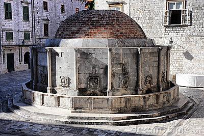 Dubrovnik fontaine de grand Onofrio