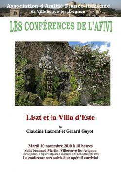 Liszt et la villa d este affiche copie