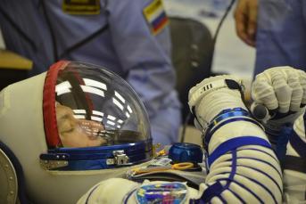 Luca parmitano in his sokol spacesuit large