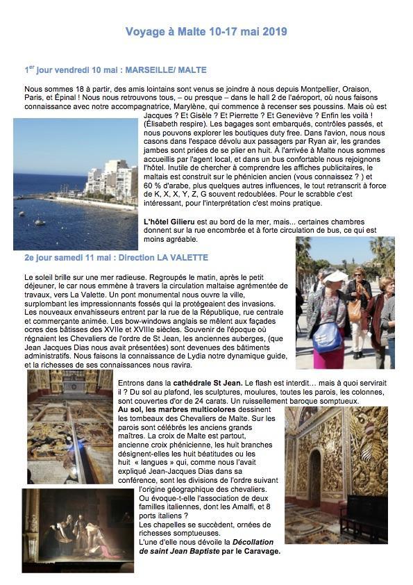 Voyage a malte 10 p1 2